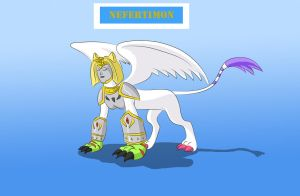 Nefertimon - The Angel of Light by Louisetheanimator