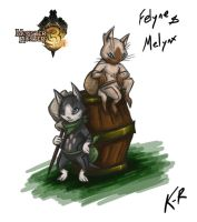 MHTri Day 01 Felyne and Melynx by Frost8