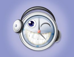 Funny Clock by 16F