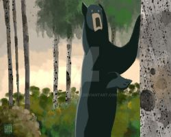 Black Bear by Gentlebree