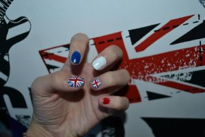 Union Jack nails by Bexiieeee