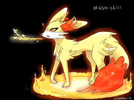Fennekin Evolution (?) by Kittermew