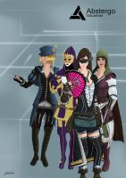 Templars Girls (with mouse) by ArantxaCosplayer