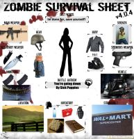 zombie survival sheet by arcanineryu