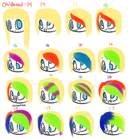 DragonGirl's hairstyle history by DragonGirl983