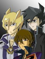 Kaiba, Chazz and Jack by Redstar95