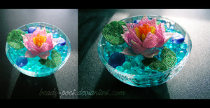 Water lily by beads-poet