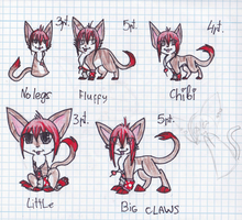 Chibi traditional comissions by PacankaSima