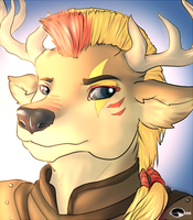 Buck's portrait commission. by Shalinka