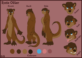Rosie Otter Ref Sheet by Otterman89