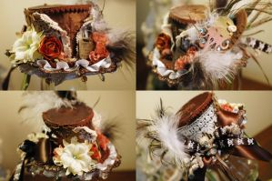 Steampunk Mini Top Hat by NoFlutter