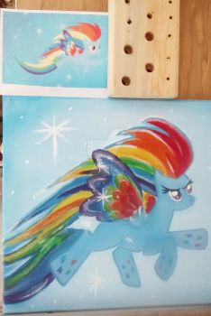 MLP Rainbow Dash Rainbow Power by ponypassions