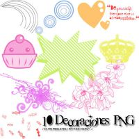 10 Decoraciones PNG by NattiiEditions