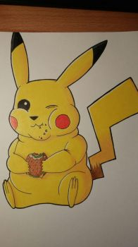Fat Pikachu by AxXxelHunder