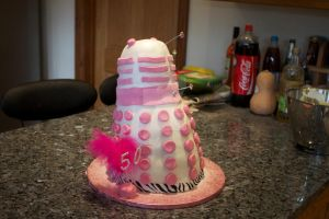 Dalek Cake by Sarah-Louise13