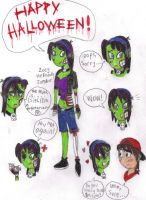 Zoey the Friendly Zombie by gilster262