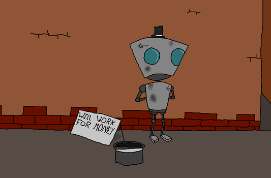 Homeless Robot remake by SketchingGames