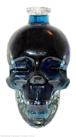 Glass Skull 3 - blue by Fire-Fuel