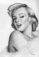 Marilyn Monroe Drawing 2 by Alley9