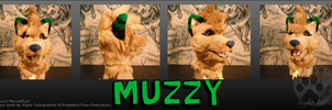Muzzy fursuit headpiece - commission by NightTwilightWolf