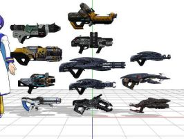 Mass effect 3 heavy weapons + DL by sky-commander