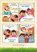 Wuffle Mini Comic : Puns for all Occasions by PitiYindee