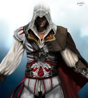 Ezio Auditore new Draw (with mouse) by ArantxaCosplayer