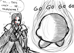 Sephiroth vs Waddle Dee by borockman
