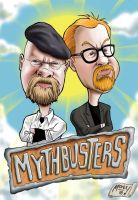 Mythbusters: Adam and Jamie by monx-art