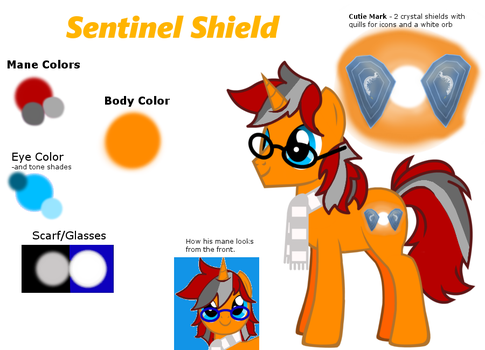 Sentinel 'Noteworth' Shield ref w/ greystripes by ChaoticNote