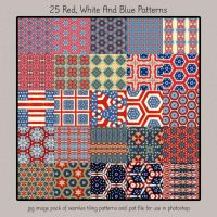 Red White And Blue Patterns by HGGraphicDesigns