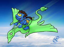 Avatar Smurf colored by photon-nmo