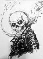 Ghost Rider Con Sketch by AnthonyHightower