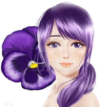Spring girl series #1 Pansy by Pink-world