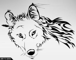 Wolf Head Tattoo Design by AbsoluteWolf