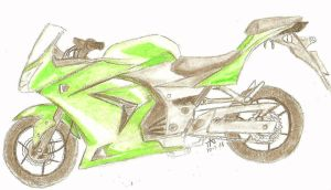Kawasaki Ninja 250 by FadedDreams5