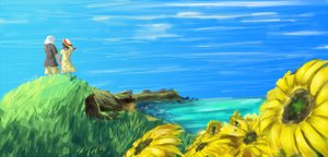 ~wrasar~ sunflowers by the sea by Infinitum-Outbreak