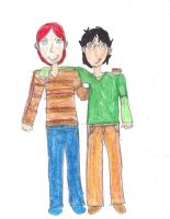 Best Friends- Harry and Ron by whiterose62