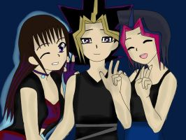 Britt,Atem and Femi -art trade- by QueenBrittStalin