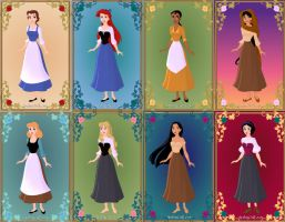 Disney Princess Peasants by GingerLass0731