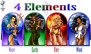 4 elements by Cahnartist