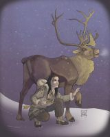 Caribou and Reindeer by sighthoundlady