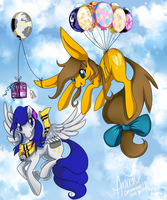 Birthday party up in the clouds by Eevie-chu