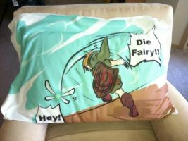 Ocarina of Time Pillowcase with Link and Navi by Kays-Fanart-Bedsets