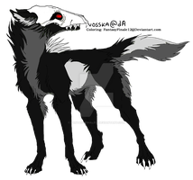 Wolf Lineart Coloring (Death 4) by FantasyFinale12