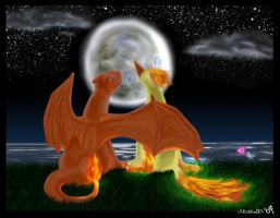 ..:Moonwatching:.. by moltres93