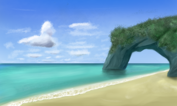 Landscape #2 - Beach arch by Sycreon