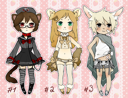 ADOPTABLES SET 3 (CLOSED) by mikimanni