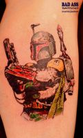Boba Fett tattoo by badasstatguy