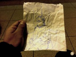 Sketch on a Beef Patty Bag by deadlymike